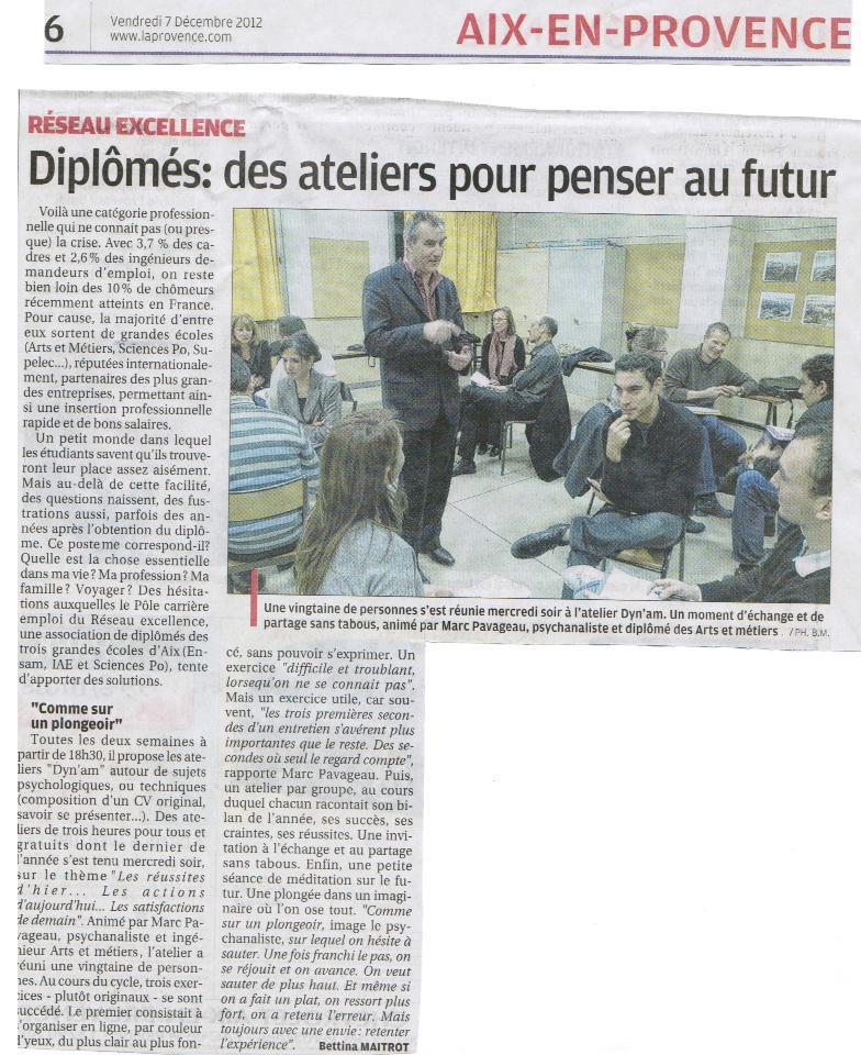 Dyn'AM La Provence 7 décembre 2012